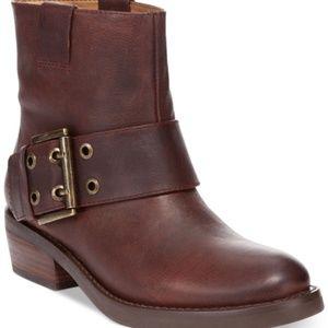 Nine West Kassy Leather Moto Style Boot Size 6